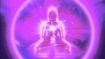 viole-flame Buddha